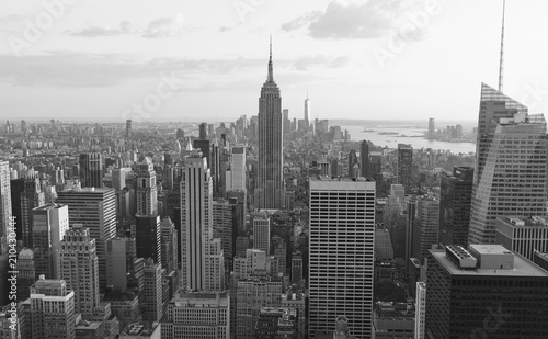 Spoed Foto op Canvas New York new york ,usa. 8-24-17: new york skyline in the evening.