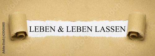 Fotografía  Leben & leben lassen