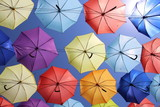 olor palette of umbrellas.