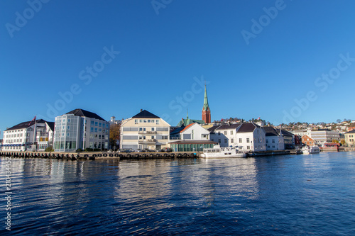 Foto op Canvas Australië The city of Arendal in Southern Norway, a clear and sunny day.