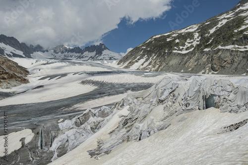Fotobehang Gletsjers Rhonegletscher am Furkapass, Wallis, Schweiz