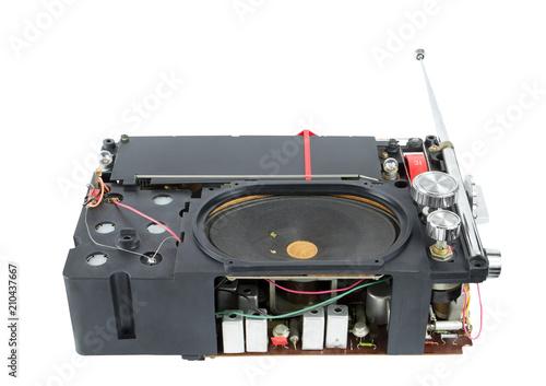 Transistor portable radio receiver inside Slika na platnu