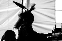 Traditional Aboriginal Pow Wow Silhouette