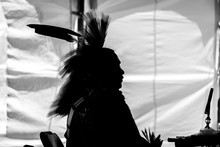 Traditional Aboriginal Pow Wow Silhouette