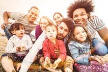 Happy Multiracial Families Tak...