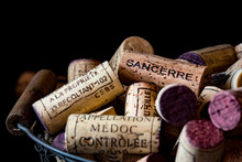 Old Cork Stoppers Of French Wi...