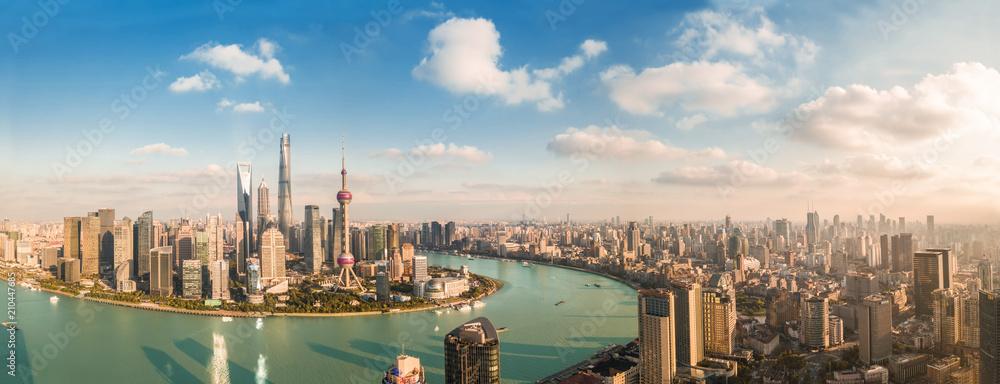 Fototapety, obrazy: Panorama view of Shanghai city.