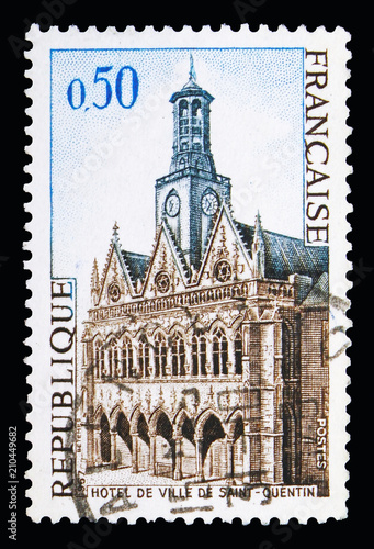 Poster  Saint Quentin. The City Hall, Tourism serie, circa 1967