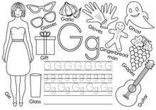 Letter G. English Alphabet. Wr...