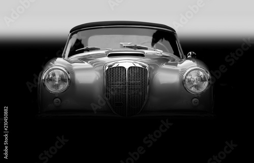 Photo sur Aluminium Vintage voitures Altes Klassisches Cabriolet