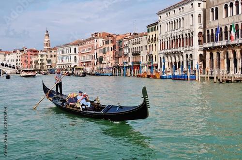 Spoed Foto op Canvas Gondolas Gondelfahrt, Canal Grande, Venedig