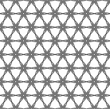 Seamless Pattern In Black And ...