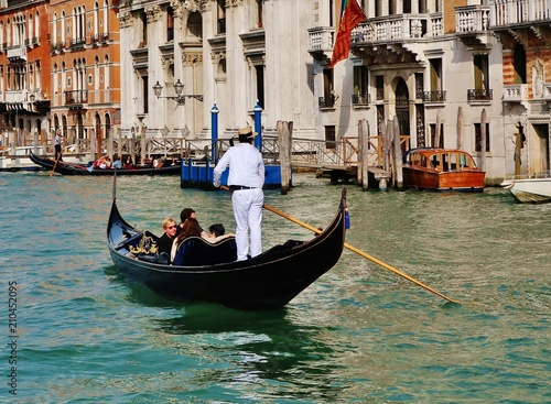 Türaufkleber Gondeln Gondelfahrt, Canal Grande, Venedig