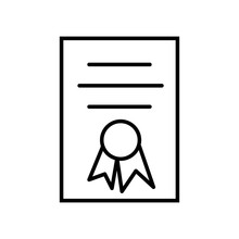 Diploma Icon Vector Icon. Simple Element Illustration. Diploma Symbol Design. Can Be Used For Web And Mobile.