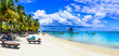 Holidays in tropical paradise - beautiful beaches of Mauritius island
