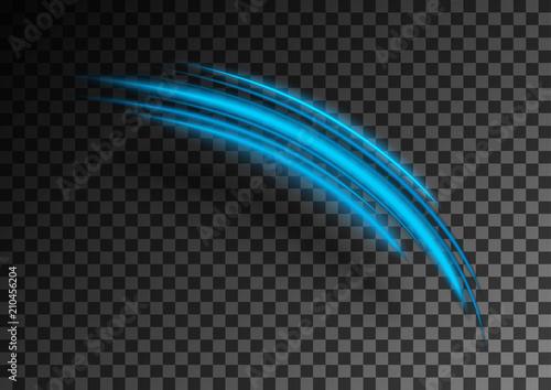 Fototapety, obrazy: Blue blurred wavy shapes