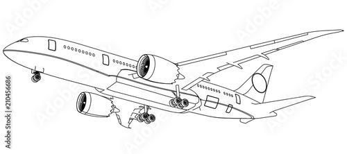 Photo Airplane lines illustration