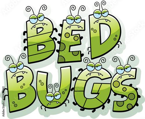 Photo  Cartoon Bed Bug Text
