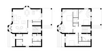Architectural Plan Of A Two-st...