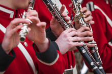 Clarinet Musicians In Red Unif...