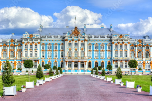Foto  Catherine palace in Tsarskoe Selo in summer, St