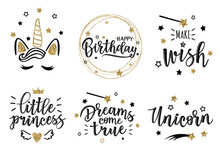 Vector Gold Greeting Set
