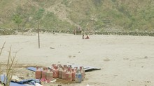 Children Play On The Sand Fiel...