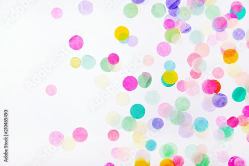 Fotografie, Obraz  Confetti on white background