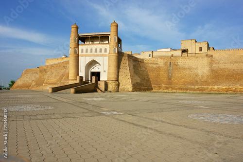 Carta da parati The Ark of Bukhara fortress located in the city of Bukhara, Uzbekistan