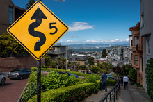 Lombard Street Signs, View Of ...