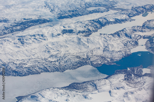 Fototapety, obrazy: aerial view on mountain and river