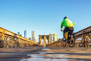 Brooklyn bridge in Manhattan, New York