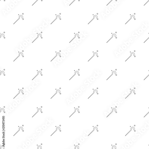 Magic Staff Background From Line Icon Linear Vector Pattern Buy