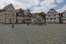 Fachwerkhäuser Am Marktplatz Im Hessenpark Bei Neu-anspach