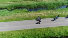 Aerial Footage Of Mopeds Drivi...