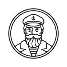 Vintage Captain Portrait