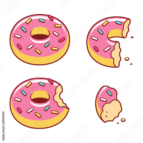 Fotografia Eating donut illustration