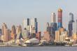 Manhattan skyline from Hudson river