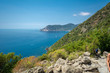 Horizontal View of the Path between Corniglia and Vernazza at Summer.