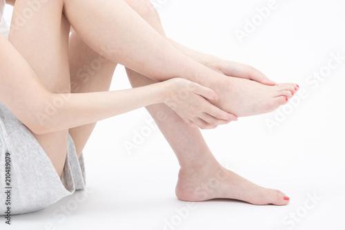 Obraz na plátně 脚 女性