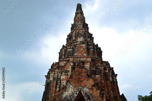 Foto op Plexiglas Bedehuis Wat Chai Wattanaram, Ancient Temple in Ayutthaya, Thailand