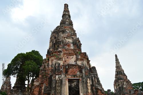 Deurstickers Bedehuis Wat Chai Wattanaram, Ancient Temple in Ayutthaya, Thailand