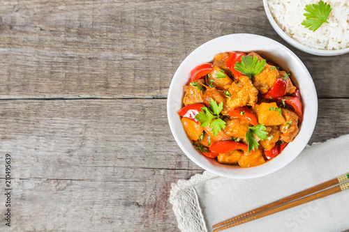 Stampa su Tela Pork in sweet and sour sauce