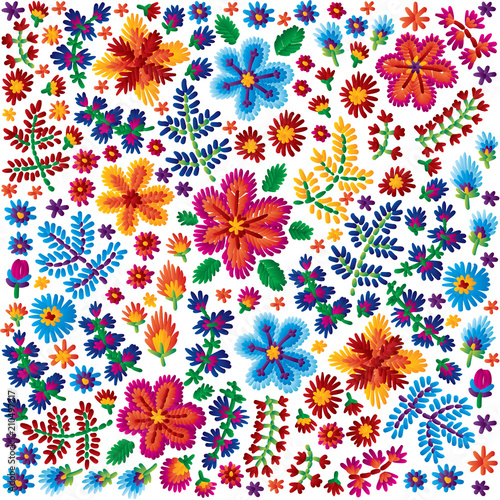 65845175e8cd Vector decorative floral embroidery pattern, ornament for textile ...