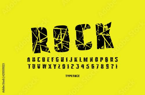 Decorative sans serif font with broken face Canvas Print