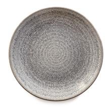 Round Gray Stoneware Plate Iso...