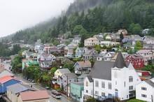 Colorful Houses In Ketchikan, Alaska