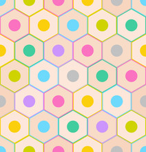 Seamless Pattern With Colorful Pencil Ends