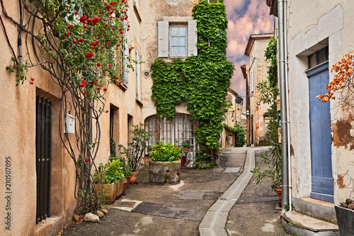 Lourmarin, Vaucluse, Provence, France: ancient alley in the old town