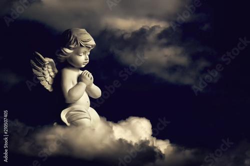 Fotografie, Obraz Guardian angel on the cloud